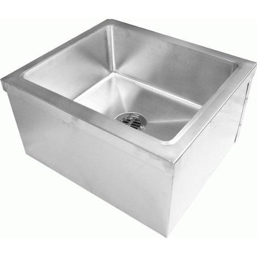 """Durasteel Stainless Steel Floor Mount Mop Sink (19""""Wx22""""L..."""