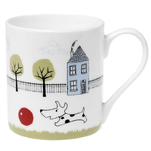 Coffee Mug Dog and Ball Design Rex International Ltd