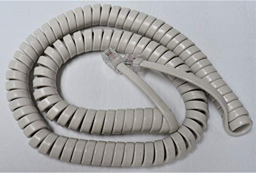 Lot of 5 Off White 12' Ft Handset Phone Cords for Avaya Partner 6 6D 18 18D 34D Series 1 ii 2 MLS-6 12 12D 18 18D 34D MLX 5 5D 10 10D 10DP 16DP 28D 8101 8102M 8110M Lucent (5 Pack) DIY-BizPhones