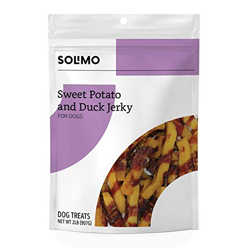 Amazon Brand - Solimo Sweet Potato & Duck Jerky Dog Treats