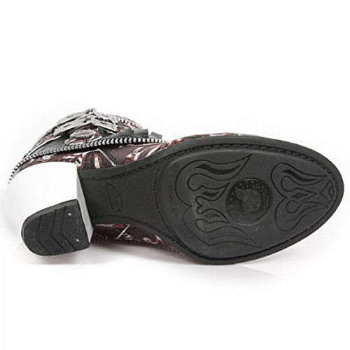 New Rock Boots M.tx002-s3 Gotico Hardrock Punk Damen Stiefelette Schwarz