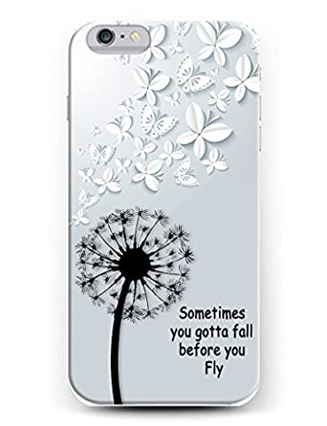 Hard Protective Apple Iphone 6 6s Plus Case Cover 5.5 Inch Sometimes You Gotta Fall Before You Fly (You Cant Sit With Us Phone Case)