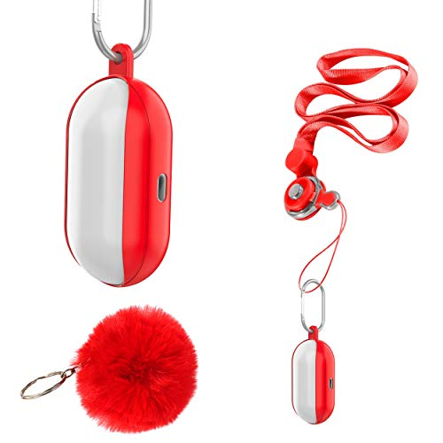 2019 Galaxy Buds Case Cover with Fur Ball/Lanyard Strap/Nonslip Keychain Carabiner, Soft and Flexible, LED Light Visible, Shock-Absorption [Bean] Silicone Case for Samsung Galaxy Buds - - Silicone Bean Case