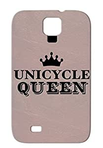 Black Anti-drop Sports Miscellaneous TPU For Sumsang Galaxy S4 Unicycle Queen Case