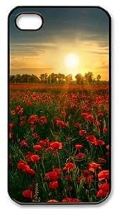Beautiful Flower Garden Under Sun DIY Hard Shell Black iphone 4/4s Case Perfect By Custom Service
