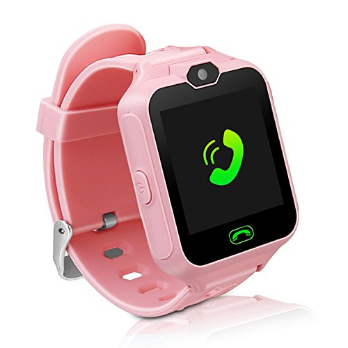Kids Smart Watch Phone,Unlocked Waterproof Smart Phone Watch for Girls Boys with Camera Games Touchscreen,Children SOS Cell Phone Watch with SIM and SD Slot,Perfect Holiday Birthday Gifts(Pink) by MIMLI