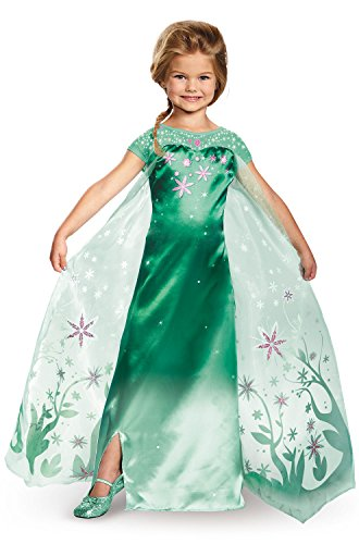 Elsa Frozen Fever Deluxe Costume, One Color, Large (10-12) ()