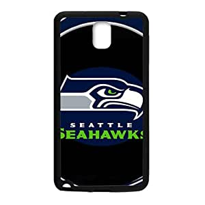 SKULL Seattle Seahawks Fashion Comstom Plastic case cover For Samsung Galaxy Note3