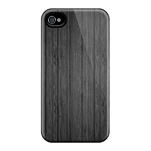 Snap-on Black Wood Case Cover Skin Compatible With Iphone 4/4s