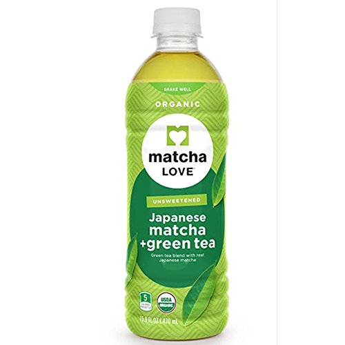 : Matcha Love Organic Japanese Matcha and Green Tea, Traditional, unsweetened, 16.9 Ounce (Pack of 12)