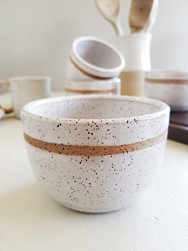 Speckled Pottery (Speckled Lined Bowls - Set Of 2)