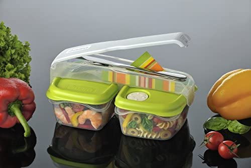 Multicolore 24x15x10.5 cm Bama Break Kit per Pranzo