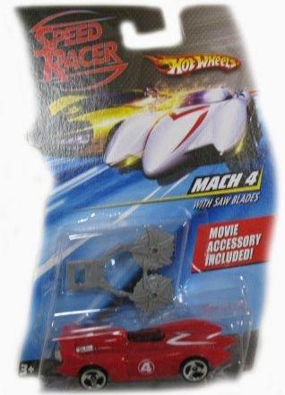 - Speed Racer 1:64 Die Cast Hot Wheels Car Mach 4 with Saw Blades