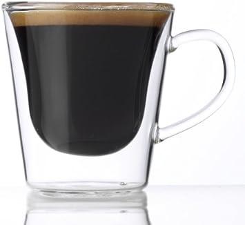 Set of 2 10-1//4-Ounce Luigi Bormioli Thermic Suprimo Coffee Mug
