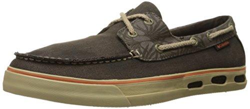 Columbia Vulc N Vent Boat Canvas, shoes homme - Marron - Brown (Cordovan/Desert Sun), 45 EU