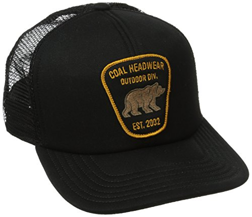 Coal Men's Bureau Trucker Hat, Black, One Size (Coal Headwear)