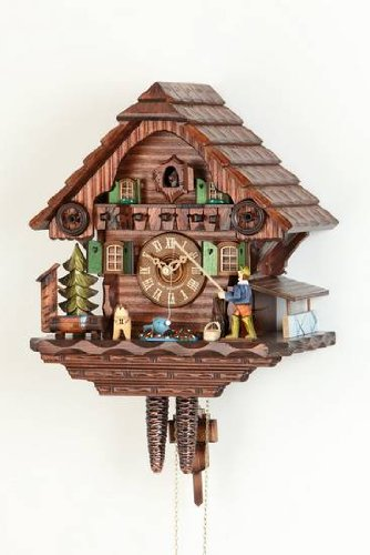 Cuco Reloj/negro bosque Reloj de cuco Chalet Relojes Reloj De 1 día de reloj