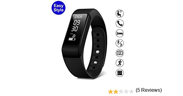 DAX-HUB IP65 Bluetooth V4.0 I5 Smart Watch Inteligente con Pantalla Cámara Táctil para Android iOS iPhone Samsung Galaxy HTC Sony Calculadora, ...