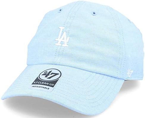 47 Gorra Visera Curva Azul con Logo pequeño de MLB Los Angeles ...