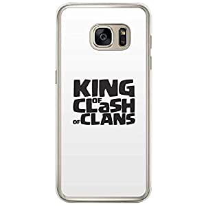 Loud Universe Samsung Galaxy S7 Edge King of Clash of Clans Printed Transparent Edge Case - White