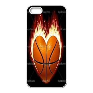 Customized Basketball on Fire Iphone 5,5S Case, Basketball on Fire DIY Case for iPhone 5,iPhone 5s at Lzzcase BY icecream design
