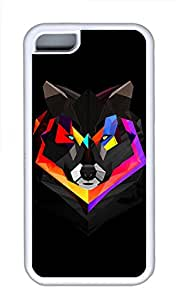 iPhone 5C Cases & Covers - Techno Wolf Custom TPU Soft Case Cover Protector for iPhone 5C¨CWhite