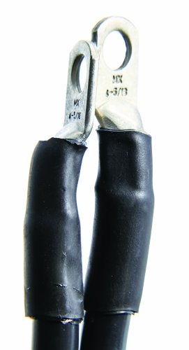 Camco 47470 Black 5//16 Stud 18 Long 2-Gauge Marine Battery Cable and Lug Assembly Tinned
