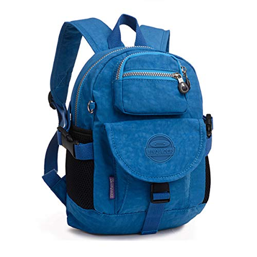 Mini Nylon Women Backpacks Casual Lightweight Backpack Purse Strong Small Packback Daypack for Girls Cycling Hiking Camping Travel Outdoor (Ocean Blue)
