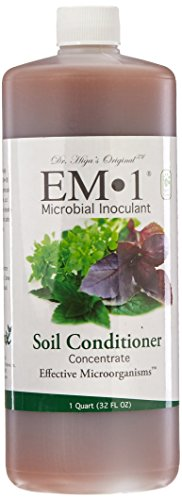 EM-1 Microbial Inoculant Fermented Micobial Product for Soil Conditioning, 1 Quart