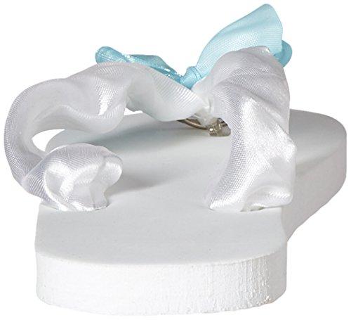 Flip Flops De Demoiselle Juste Mariée (taille 7-8) Tamponnez Votre Message Dans Le Sable
