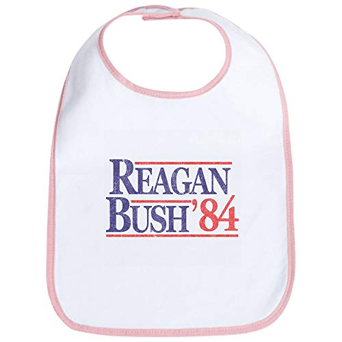 CafePress Reagan Bush '84 Bib Cute Cloth Baby Bib, Toddler Bib ()