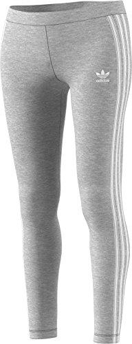 adidas Originals Women's 3-Stripes Leggings, Medium Grey Heather, X-Large