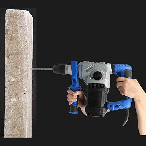 230V Hammer Drill, Heavy Duty SDS Rotation Concrete Tile Breaker Demolition, with Drill Bits, Hammer, Drill and Chisel Mode Included Dust Cap and Double Handle