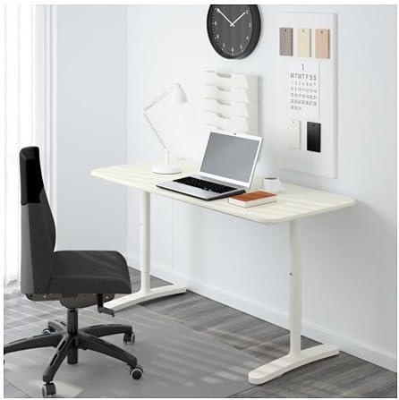 Ikea bekant Escritorio en Color Blanco; con Estructura Blanca ...