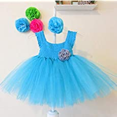 Vestido Crochet Con Tul Para Bebé Niña Turquesa Amazoncom