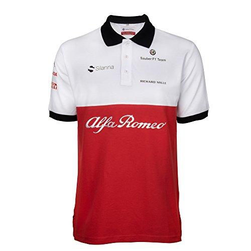 Alfa Romeo Sauber F Team Polo TShirt Amazoncouk Sports - Alfa romeo merchandise