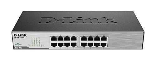 D-Link 16-Port 10/100 Unmanaged Desktop or Rackmount Switch (DSS-16+)