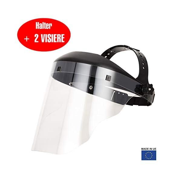 Facevisors-Faceshield-Active-schtzende-gesichtschild-Leicht-Auf-Sichere-Art-Verstellbar-Und-Mit-Vollumfnglicher-Transparenz-Aus-Kunststoff-Mit-Zustzlichem-Visier-Schwarz