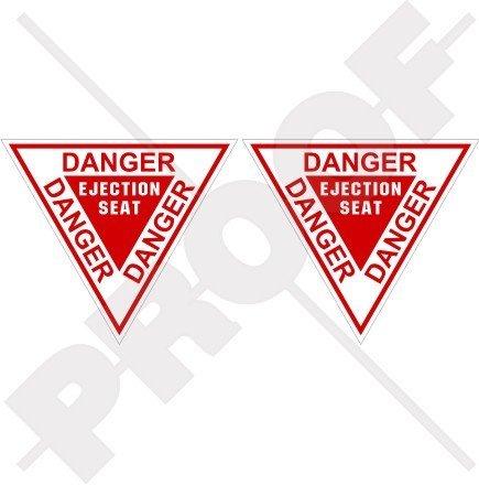 Baker Sticker - DANGER EJECTION SEAT USAF Martin Baker 3,6