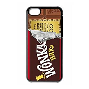 iPhone 5C Phone Case Black Willy Wonka Golden Ticket Chocolate Bar F6502379