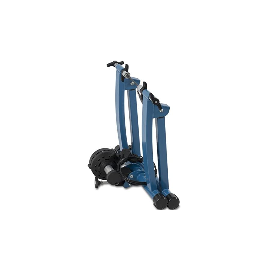 Akonza Indoor Cycling Bicycle Magnetic Trainer W/Seven Levels Of Resistance Exercise Stand Blue