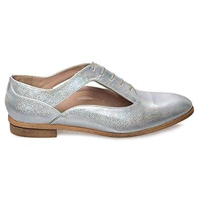 Eram Silver Oxford & Wingtip For Women