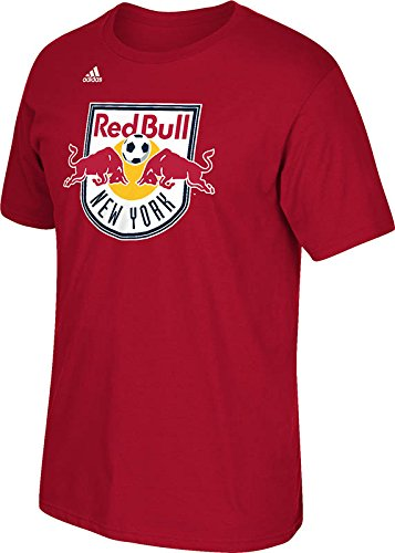 MLS New York Red Bulls Men's Logo Set Tee, XX-Large, Power Red