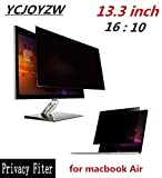 YCJOYZW-13.3 inch Privacy Filter Screens Protective film for 16:10 MacBook Air 11 1/4 'wide x 7 1/16 ' high (286mm179mm) (for macbook Air 13)