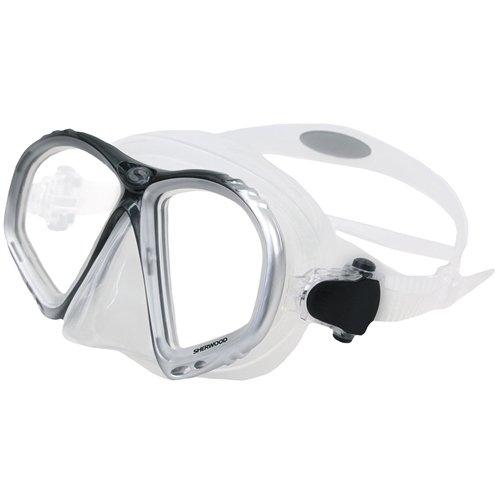 (Sherwood Allure 2-Window Mask, Silver)