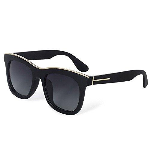 Mode Lunettes Rétro Carrées Sunglasses Femmes UV 400 TL Lunettes black Bright Polarisé wEXqBn4T