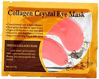 Collagen Eye Mask,lotus.flower Pink Eye Collagen Aging Wrinkle Under Crystal Gel Patch Anti Mask (Pink)