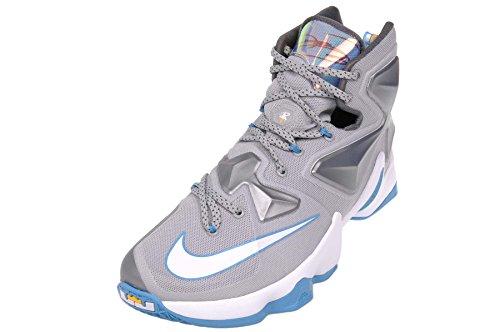 Nike Heren Lebron Xiii Wolf Grijs / Wit-blauw Lagune-donker Grijs Basketbalschoen - 10.5 D (m) Us