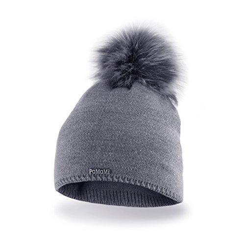 PaMaMi Ladies Thermal Winter hat Warm beanie Universal size Skin-friendly 12b9f3b78da