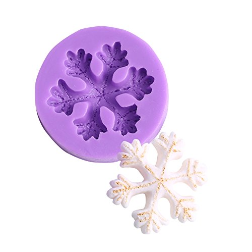 (3D Snowflake Silicone Fondant Cake Mold Chocolate Decoration Tool for Icing, Chocolate, Fondant, Resin, Gum Paste, Soap Mold (Style 2))